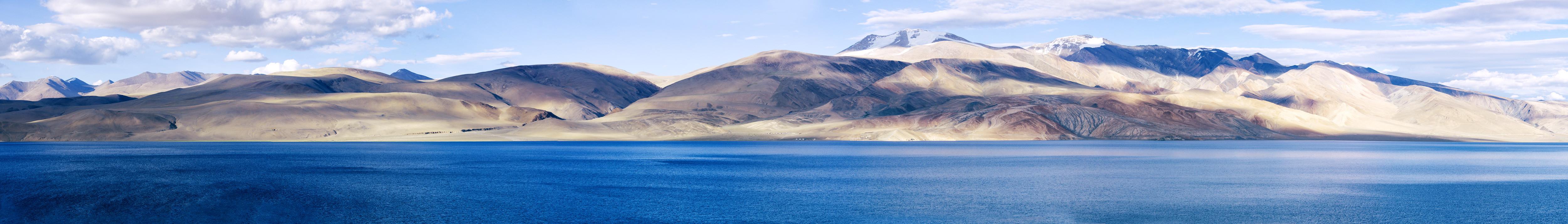 Озеро Тсо Морири, Ладакх, Индия. Панорамы Гималаев